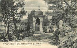 ND DE ROCHEFORT DANS LE CALVAIRE ANCIENNE EGLISE - Rochefort-du-Gard