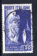 Y2162 - REPUBBLICA 1951 ,  20 Lire  Sassone N. 659  Usato . Tessile - 6. 1946-.. Repubblica