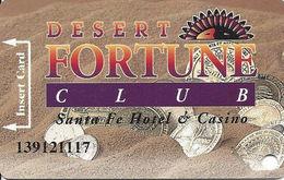 Santa Fe Casino - Las Vegas, NV - 5th Issue Slot Card - 5th Line Reverse Starts With 'card' / Temp# - Casino Cards
