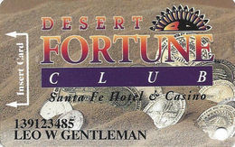 Santa Fe Casino - Las Vegas, NV - 5th Issue Slot Card - 5th Line Reverse Starts With 'card' - Casino Cards