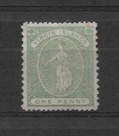 BRITISH VIRGIN ISLANDS VIERGES AN 1866 SAINTE URSULE YVERT NR. 3a MNH DENTELE 15 X 12 RARISIME - Britse Maagdeneilanden