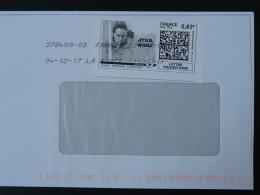 Cinema Star Wars Timbre En Ligne Sur Lettre (e-stamp On Cover) TPP 3859 - Kino