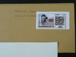 Cinema Star Wars Timbre En Ligne Sur Lettre (e-stamp On Cover) TPP 3864 - Kino