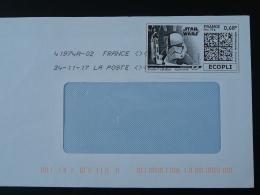 Cinema Star Wars Timbre En Ligne Sur Lettre (e-stamp On Cover) TPP 3891 - Kino
