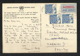 United State America 1976 Postal Stationery Used Picture Postcard With Stamps To Pakistan - Postal History