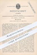 Original Patent - Aug. Reitze , Hannover  1888 , Billet - Coupierzange | Fahrkarten - Lochzange | Fahrschein , Schaffner - Historische Dokumente