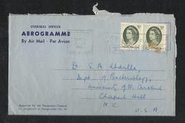 Australia 1965 Slogan Postmark Air Mail Postal Used Aerogramme Cover Australia To U S A USA - Aerogrammes