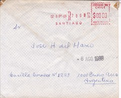 CHILE CHILI. FRANQUEO 0. RECOMMANDE. CIRCULEE TO BUENOS AIRES.-TBE-BLEUP - Chile