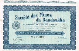 Ancienne Action - Société Des Mines De Boudoukha - Algérie - Titre De 1937 - Afrique