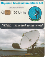 NIGERIA - Earth Station, Nigerian Telecom Ltd First Chip Issue 100 Units(1NAIFIA), Chip Siemens 30, Used - Nigeria