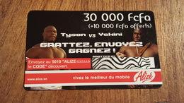 Carte Prépayée  USED SÉNÉGAL 30000 FCFA + 10000 OFFERT THÈME BOXE TYSON VS YCKINI - Senegal