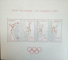 L) 1984 MONACO, XXII OLYMPIC LOS ANDES, GYMNASTICS, MNH - Monaco