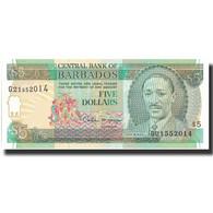 Billet, Barbados, 5 Dollars, Undated (1996), Undated, KM:47, NEUF - Barbades