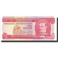 Billet, Barbados, 1 Dollar, Undated (1973), Undated, KM:29a, NEUF - Barbades