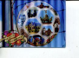(102) We Love Germany - Round Balloon 3-D Postcard - Carte De Ballon En 3-D - Soccer