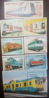 L) 1989 GUINEA, TRAINS AND SUBWAY, TRANSPORT, MULTIPLE STAMPS, MNH - Guinea-Bissau