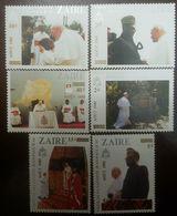 L) 1985 ZAIRE, VISIT OF HIS HOLINESS JOHN PAUL II, RELIGION, PONTIFF, PRESIDENT, PEOPLE, MNH - Zaire
