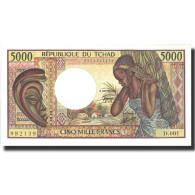 Billet, Chad, 5000 Francs, Undated (1984-91), Undated, KM:11, SPL+ - Tsjaad