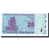 Billet, Zimbabwe, 20 Dollars, 2009, 2009, KM:95, NEUF - Zimbabwe