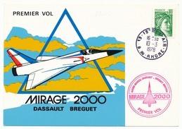 FRANCE - Carte - Premier Vol MIRAGE 2000 Dassault Breguet - ISTRES AIR - 1978 - Premiers Vols