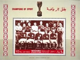 PERFORATED. MANAMA 1968. FOOTBALL. WORLD CUP 1966. ENGLAND WINNERS. SS. MNH** - Fútbol
