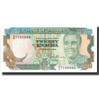 Billet, Zambie, 20 Kwacha, Undated (1989-91), Undated, KM:32b, NEUF - Zambia