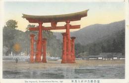 Japon - The Big-torii, Itsukushima Shrine, Akl - Carte Colorisée Non Circulée - Hiroshima