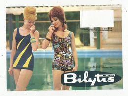 Publicité, 21 X 15.5 , Maillots De Bain Femme ,BILYTIS , Paris,2 Scans - Advertising