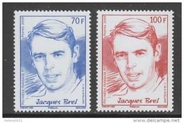 PAIRE NEUVE DE POLYNESIE FRANCAISE - JACQUES BREL N° Y&T 867/868 - Chanteurs