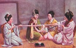 Japon: Japanese At Home, A Japanese Game - Raphael Tuck & Sons, Carte Oilette Non Circulée - Asie