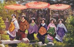 Japon: Japanese At Home, Kioto Girls - Raphael Tuck & Sons, Carte Oilette Non Circulée - Asie