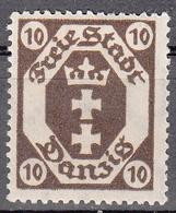 DANZIG   SCOTT NO. 64     MINT HINGED     YEAR 1921   WMK 108 - Danzig