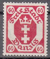 DANZIG   SCOTT NO. 71    MINT HINGED     YEAR 1921   WMK 108 - Danzig