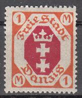 DANZIG   SCOTT NO. 73    MINT HINGED     YEAR 1921   WMK 108 - Danzig