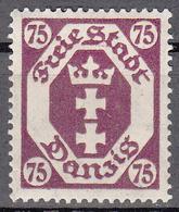 DANZIG   SCOTT NO. 81    MINT HINGED     YEAR 1922 - Danzig