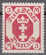 DANZIG   SCOTT NO. 87    MINT HINGED     YEAR 1922  WMK 108 - Danzig
