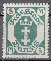 DANZIG   SCOTT NO. 89    MINT HINGED     YEAR 1922  WMK 108 - Danzig