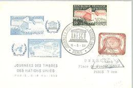 POSTMARKET  1959 FRANCIA - UNESCO