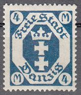 DANZIG   SCOTT NO. 99   MINT HINGED     YEAR 1922   WMK 109 - Danzig