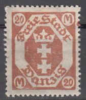 DANZIG   SCOTT NO. 103     MINT HINGED     YEAR 1922       WMK 109 - Danzig