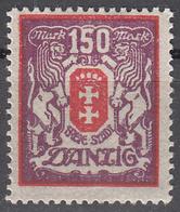 DANZIG   SCOTT NO. 108     MINT HINGED     YEAR 1922 - Danzig