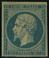 BEAUTIFUL---FRANCE--NAPOLEON III TYPE I --UNUSED--MH--1853 /1861 -Blue-green - 1853-1860 Napoléon III