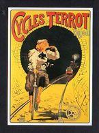 """PUBLICITE / Reproduction Affiche Ancienne / Bicyclette,Vélo / Cycles """" Terrot """" Dessin De Plouzeau - Publicité"""