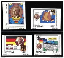 Senegal 1009/12** ND  Adenauer  MNH - Sénégal (1960-...)