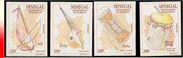 Senegal 1255/58** ND Instruments De Musique  MNH - Sénégal (1960-...)