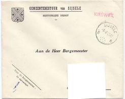 Omslag Enveloppe - Gemeente Sijsele - Stempel  1961 - Ganzsachen