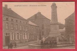 Cerfontaine - Monument Aux Soldats ... Groupe De Gamins ( Voir Verso ) - Cerfontaine