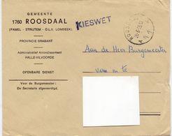 Omslag Enveloppe - Gemeente Roosdaal  - Stempel  1975 - Ganzsachen