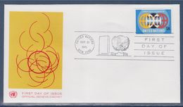= Année Internationale Contre La Discrimination Raciale Enveloppe 1er Jour New-York 21.9.71 N°214 Globes Stylisés - FDC