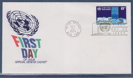 = Série Courante Enveloppe 1er Jour New-York 22.10.71 N°215 Siège Des Nations Unies - FDC